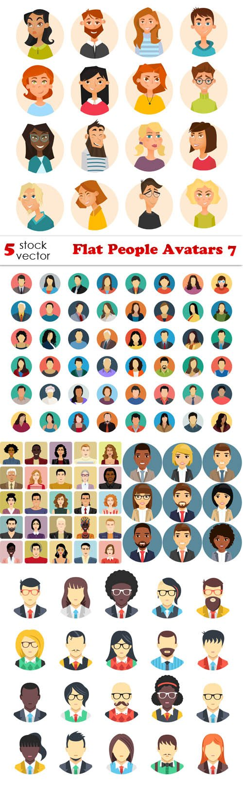 Vectors - Flat People Avatars 7
