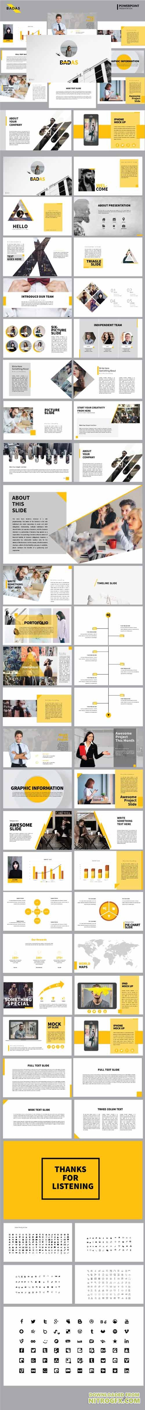 Badas - Creative Multipurpose Presentation Templates 20420094