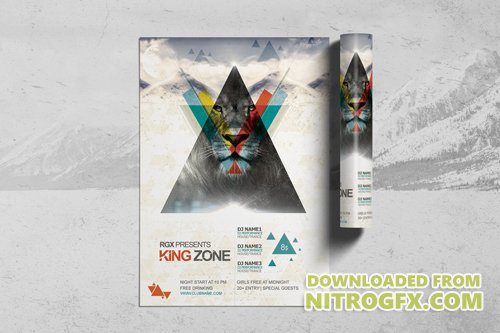 King Zone Party Flyer