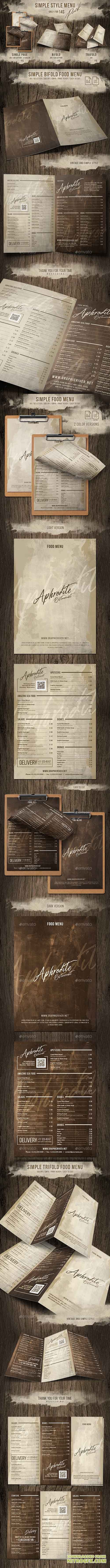GraphicRiver - Simple Style Menu Pack (Single - Bifold - Trifold) 20391050