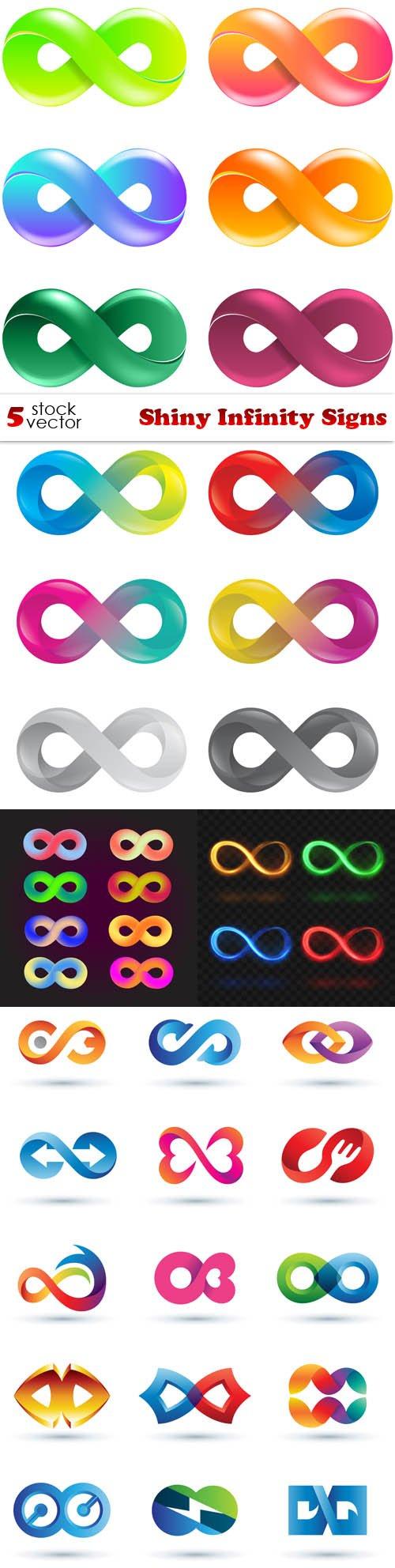 Vectors - Shiny Infinity Signs