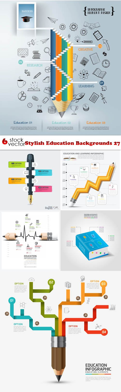 Vectors - Stylish Education Backgrounds 27