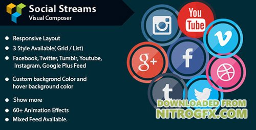 CodeCanyon - Visual Composer - Social Streams With Carousel v1.7 - 11471294