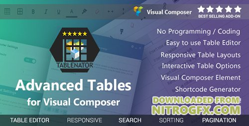 CodeCanyon - Tablenator v1.2.1 - Advanced Tables for Visual Composer - 18560899