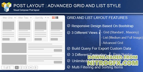 CodeCanyon - Advance Post Grid/List with custom filtering for Visual Composer v3.8 - 8712997