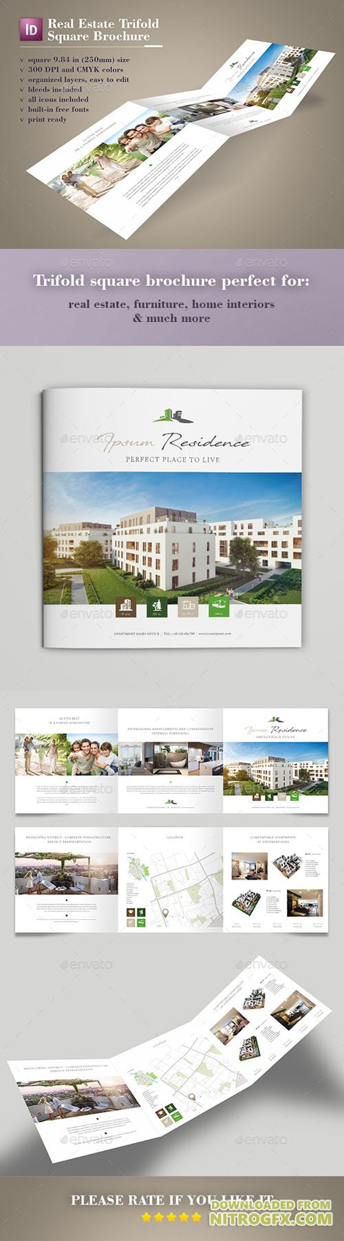 GraphicRiver - Real Estate Trifold Square Brochure 20355847