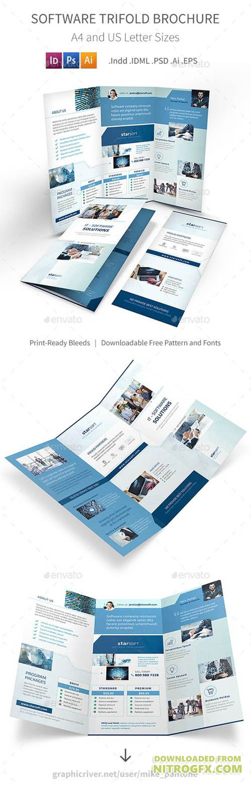 GraphicRiver - Software Business Trifold Brochure 20356416