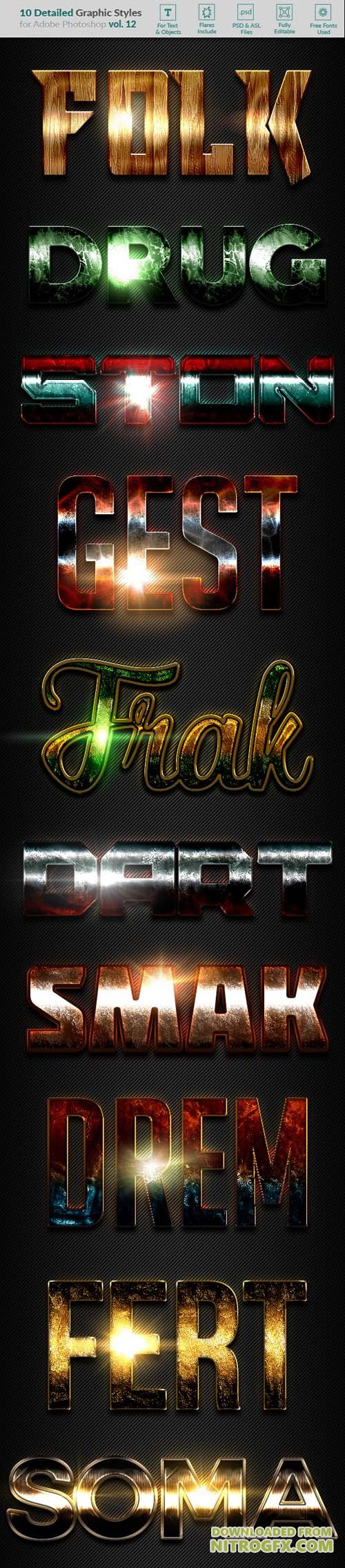 GraphicRiver - 10 Text Effects Vol. 12 20402463