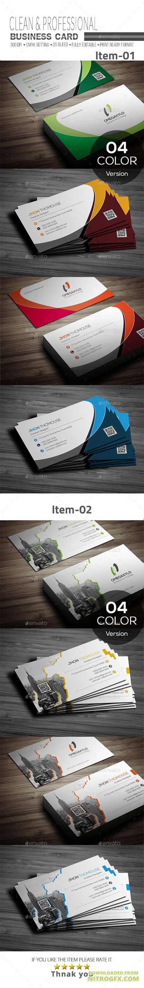 GraphicRiver - Business Card Bundle 2 In 1 20402377