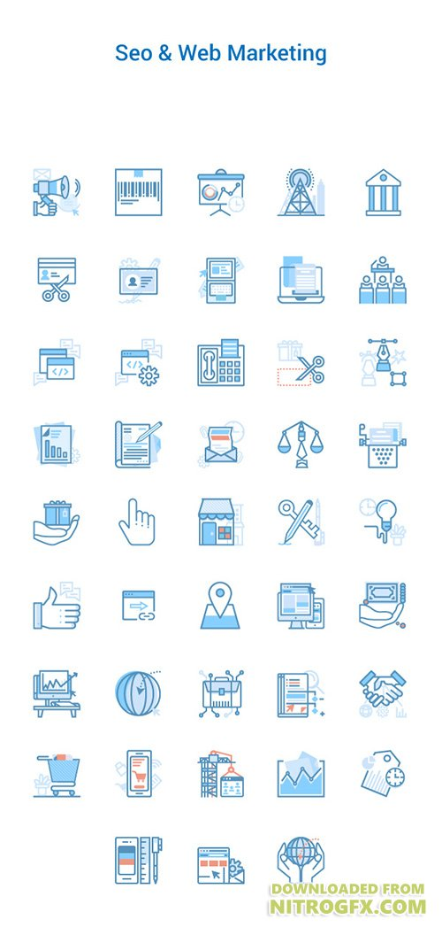 AI, PNG, SVG Vector Web Icons - Seo & Web Marketing Icons