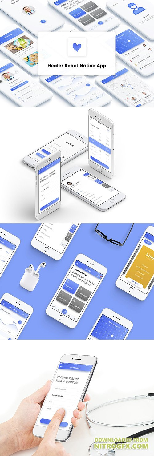 healer react native app template cm 1663581 nitrogfx download unique graphics for. Black Bedroom Furniture Sets. Home Design Ideas