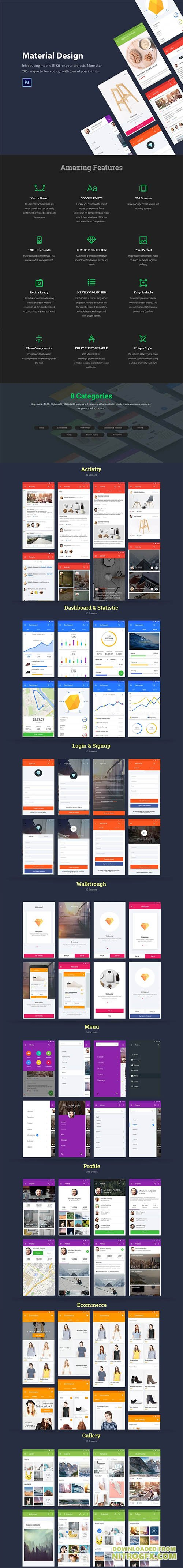 Material design simple material layout to speed up the for Easy app design