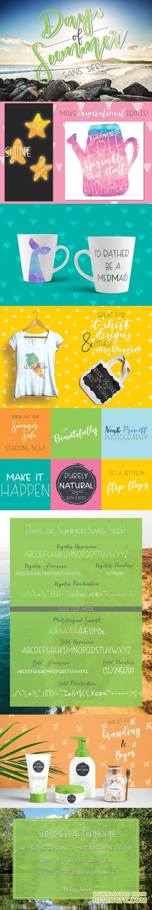 Creativemarket - Days of Summer Sans Serif 1721095