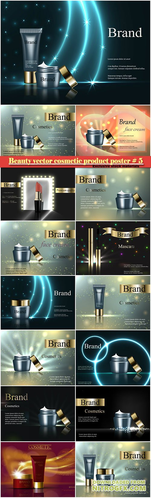Beauty vector cosmetic product poster # 5