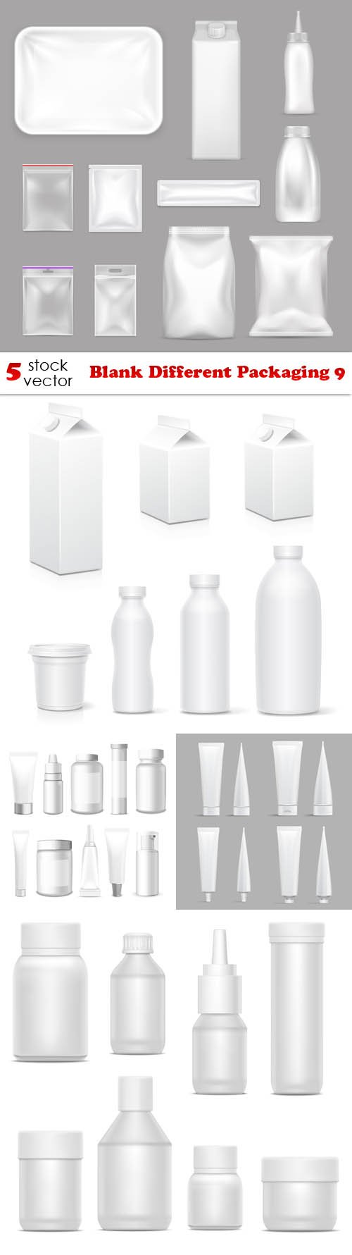 Vectors - Blank Different Packaging 9