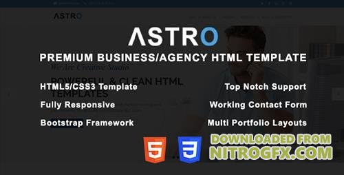 ThemeForest - Astro v1.0 - Premium Business/Agency HTML Template - 20332746
