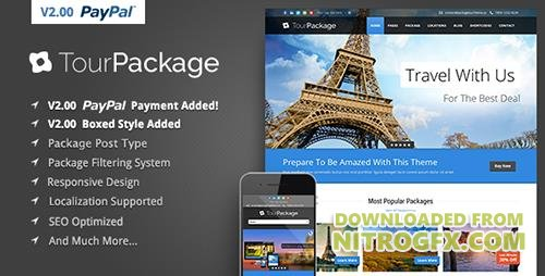 ThemeForest - Tour Package v2.07 - Wordpress Travel/Tour Theme - 5360508