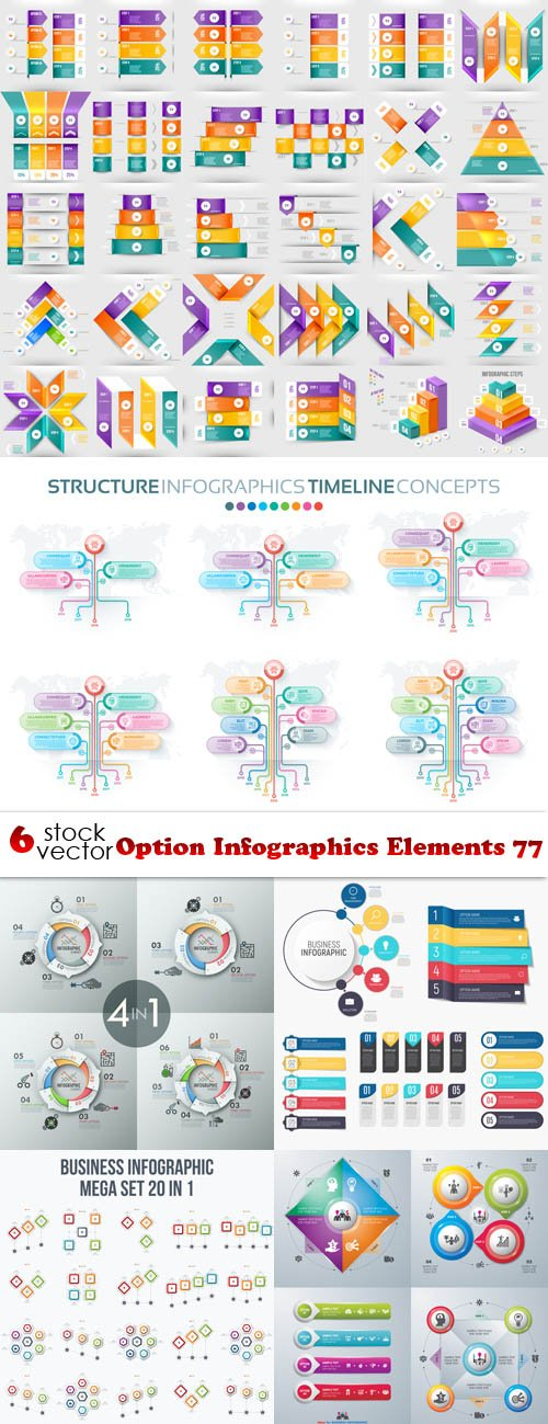 Vectors - Option Infographics Elements 77