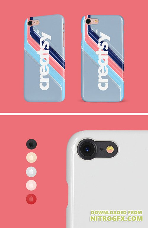 PSD Mock-Ups - iPhone Glossy Snap Case