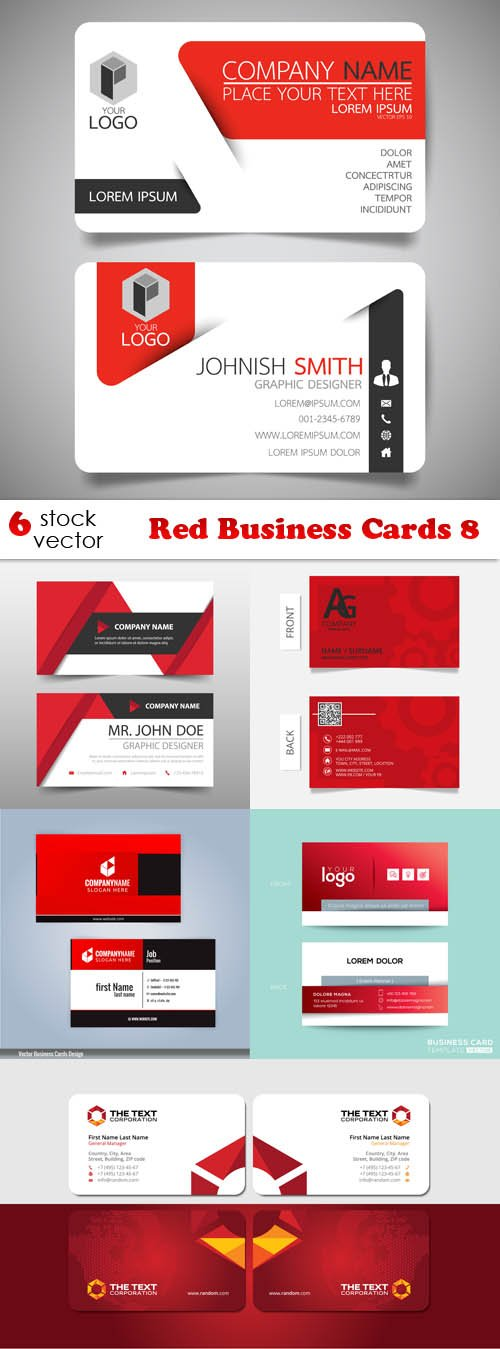 Vectors - Red Business Cards 8