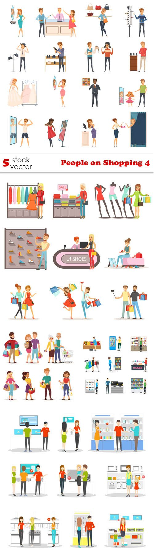 Vectors - People on Shopping 4