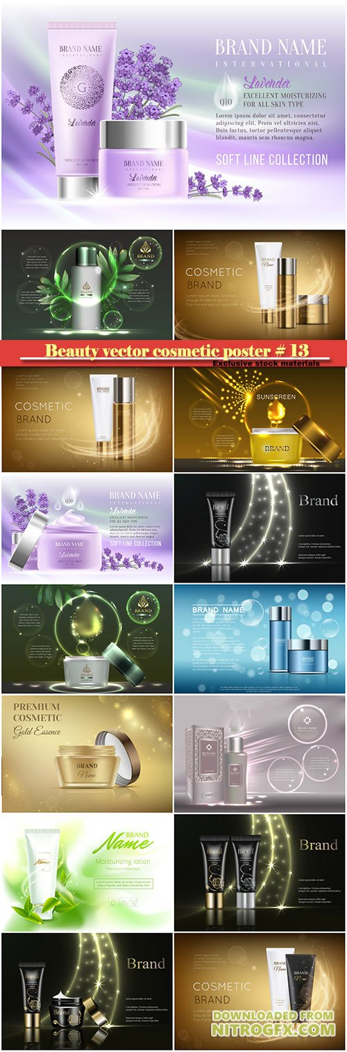 Beauty vector cosmetic product poster # 13