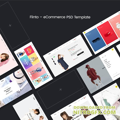 PSD Web Template - Flinto - WooCommerce Theme