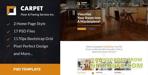 CARPET - Flooring, Paving & Tiling PSD Template 20036017