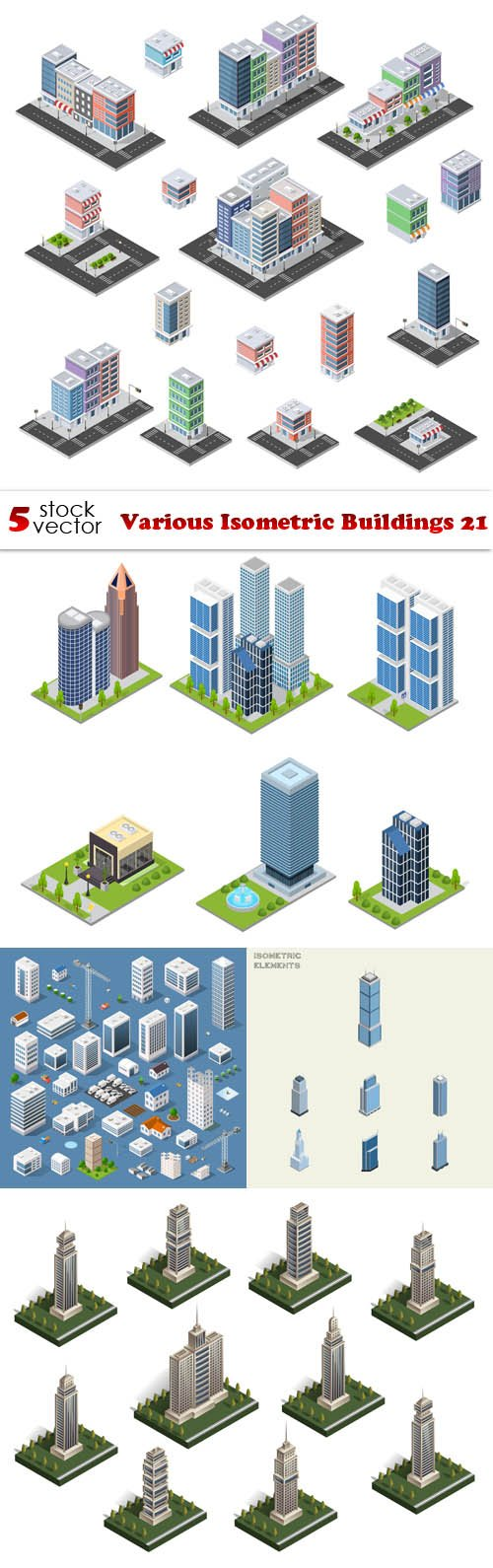 Vectors - Various Isometric Buildings 21