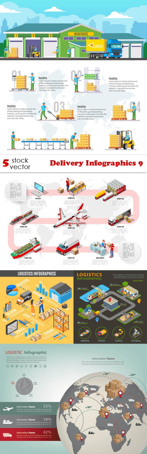 Vectors - Delivery Infographics 9