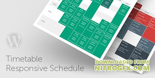 CodeCanyon - Timetable Responsive Schedule For WordPress v4.0 - 7010836