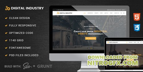ThemeForest - Digital Industry v1.0 - Industrial Business HTML Template - 18618302