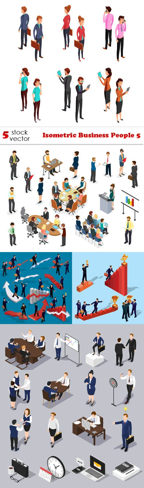 Vectors - Isometric Business People 5