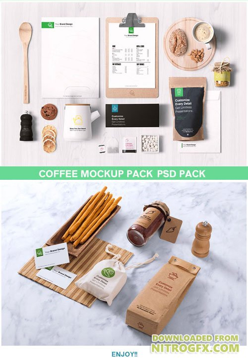 Coffee Mockup PSD Pack
