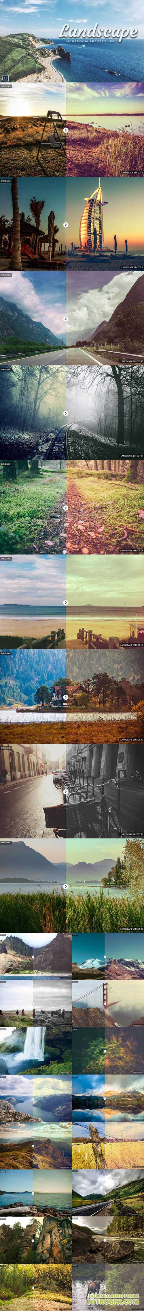 25 Landscape Lightroom Presets [RAW/JPEG]