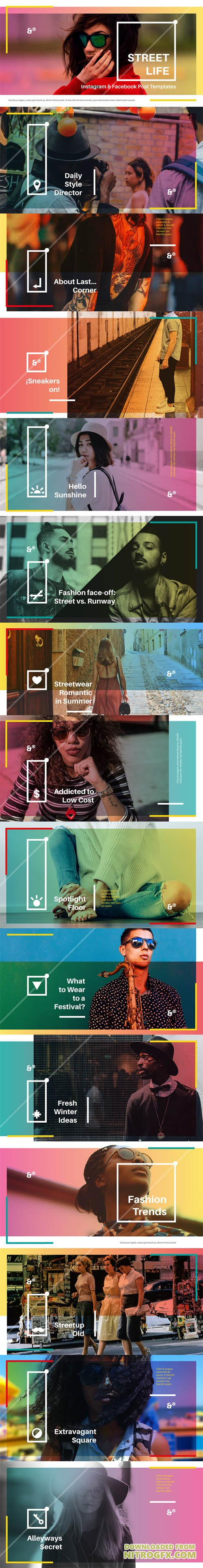 15 Street Life Social Media Templates [PSD/AI/Sketch]