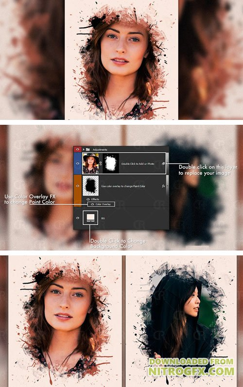 Artistic Photo PSD Template