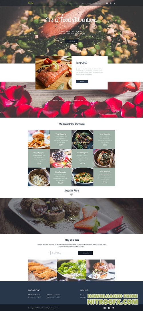 PSD Web Template - Foody - One Page Theme For Food Business