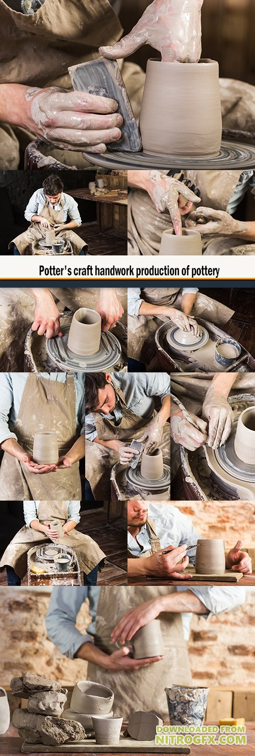 Potter's craft handwork production of pottery