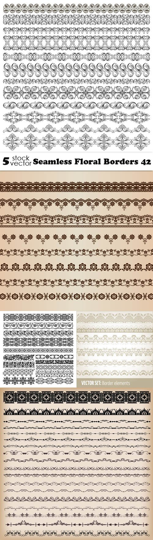 Vectors - Seamless Floral Borders 42
