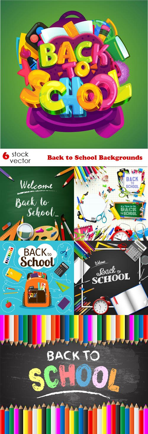 Vectors - Back to School Backgrounds
