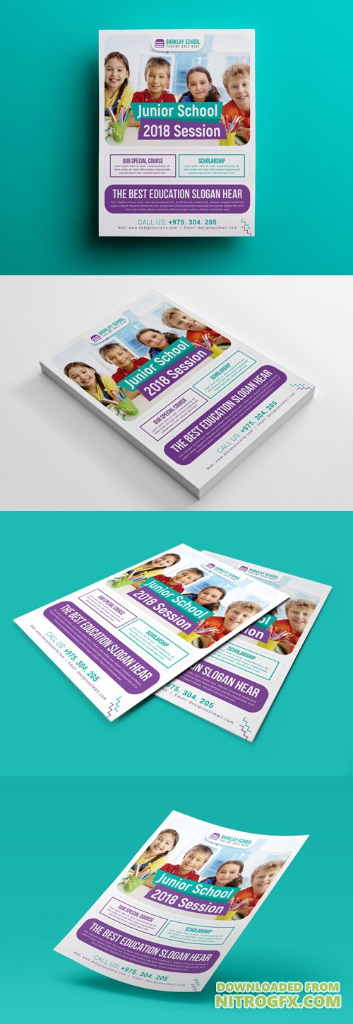 School Flyer PSD