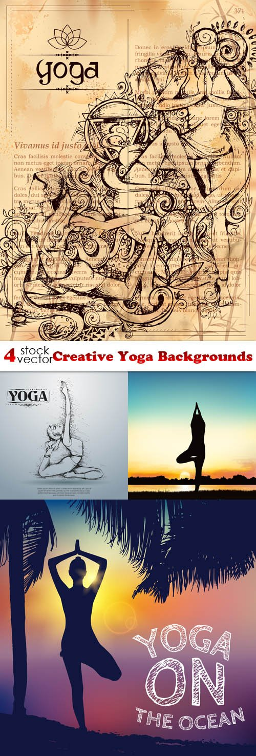 Vectors - Creative Yoga Backgrounds