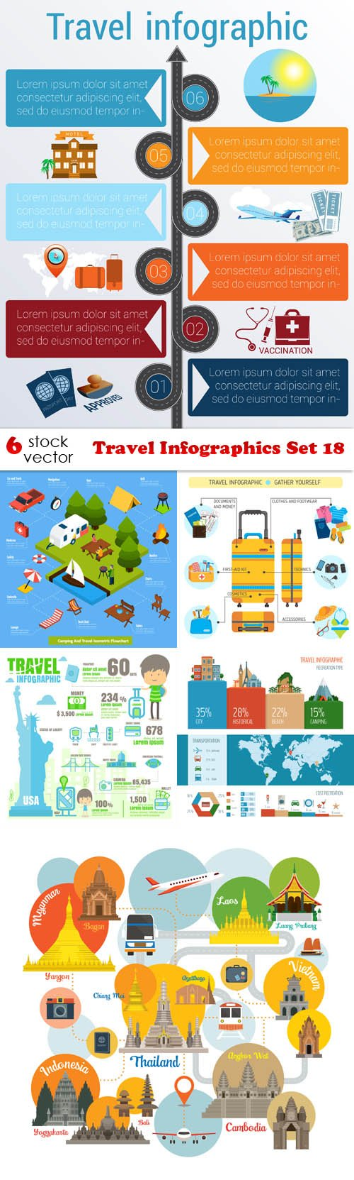 Vectors - Travel Infographics Set 18
