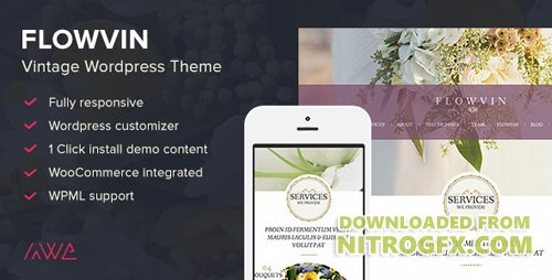 ThemeForest - FlowVin v1.10 - Vintage Flower Shop WordPress Theme - 9924042