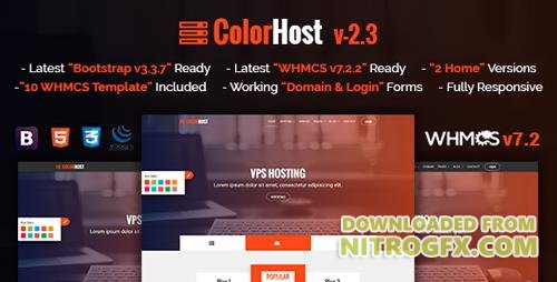 ThemeForest - ColorHost v2.3 - Responsive HTML5 Web Hosting and WHMCS Template - 18413981