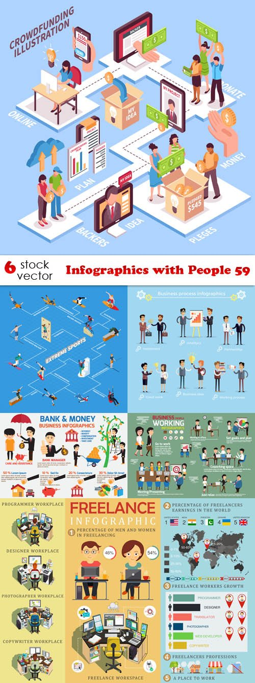 Vectors - Infographics with People 59