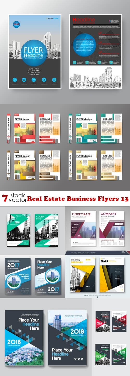 Vectors - Real Estate Business Flyers 13