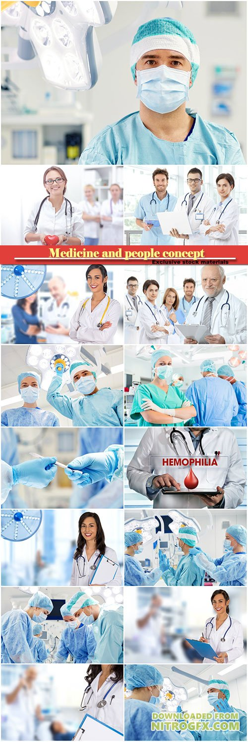 Medicine and people concept, surgery, attractive young doctor's