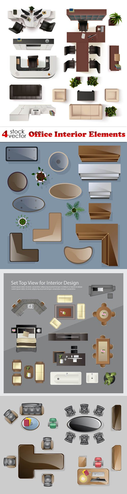 Vectors - Office Interior Elements